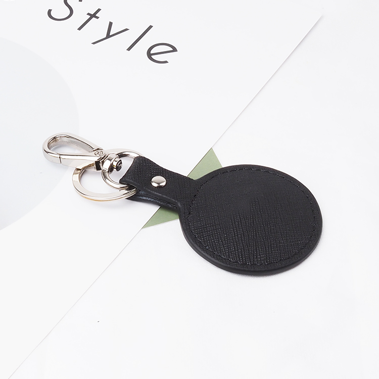 House luxury custom shape wholesale leather keychain