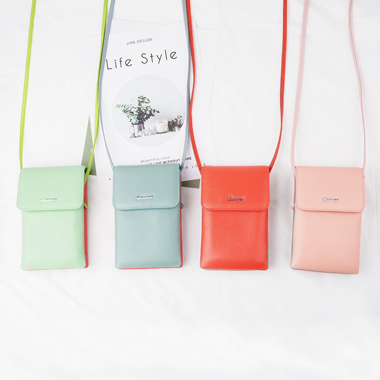 2020 Hot selling soft leather phone bag cell phone case bag
