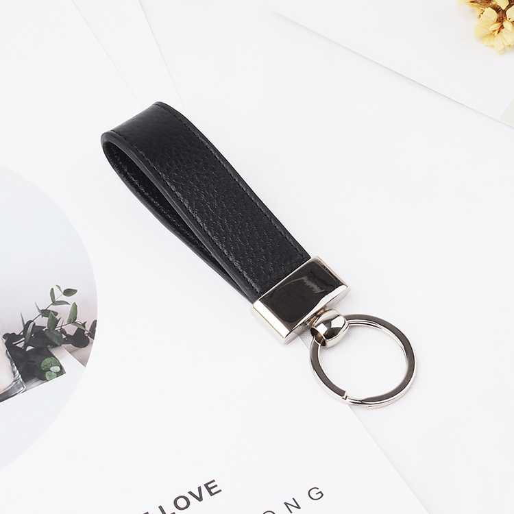 Personalized Keychain Tassel Toys 100% High Quality Leather Keychain Rings With Chain