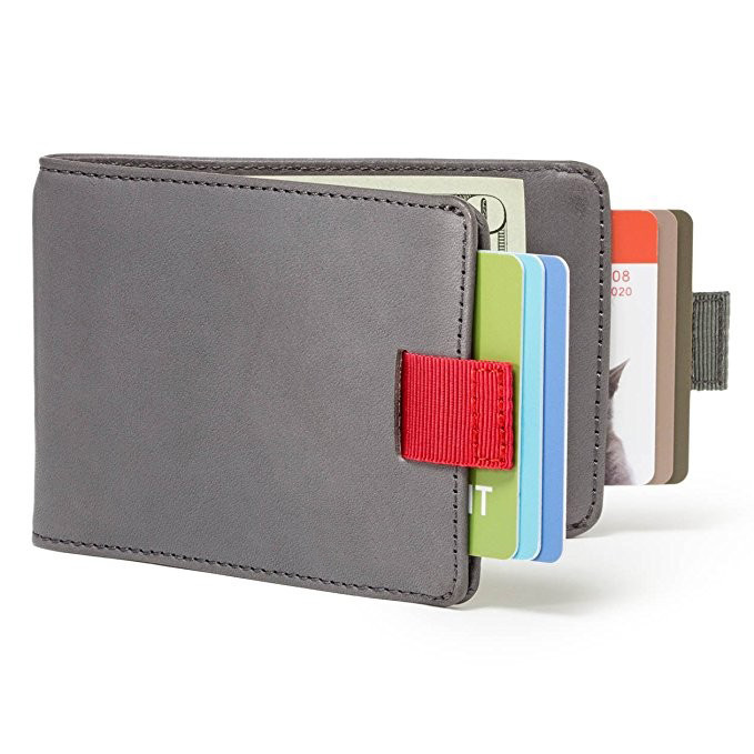 Business grain Leather Men RFID Wallets