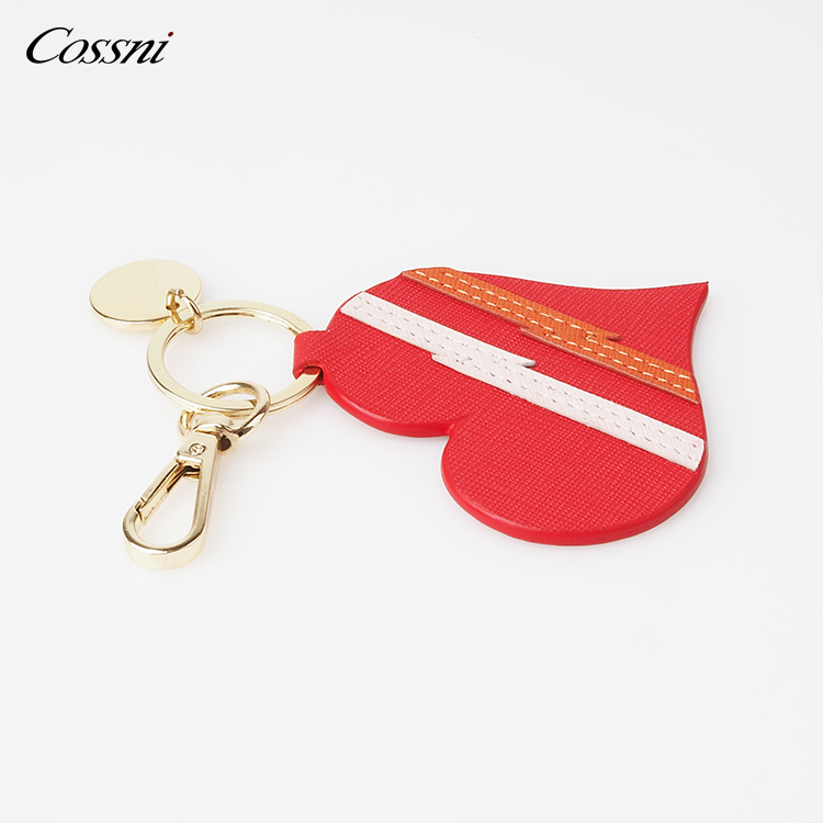 Personalized Genuine Leather Keychain Rings Leather Key Fob