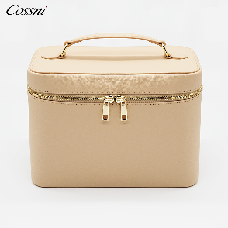 2020 saffiano PU leather travel case beauty grainy makeup cosmetic cases bag