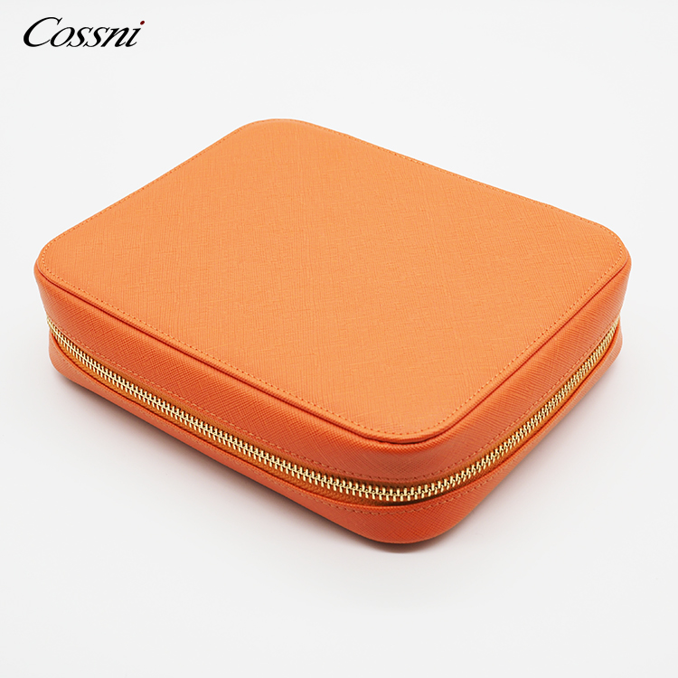 2020 leather goods wholesale pu leather zipper toiletry bag