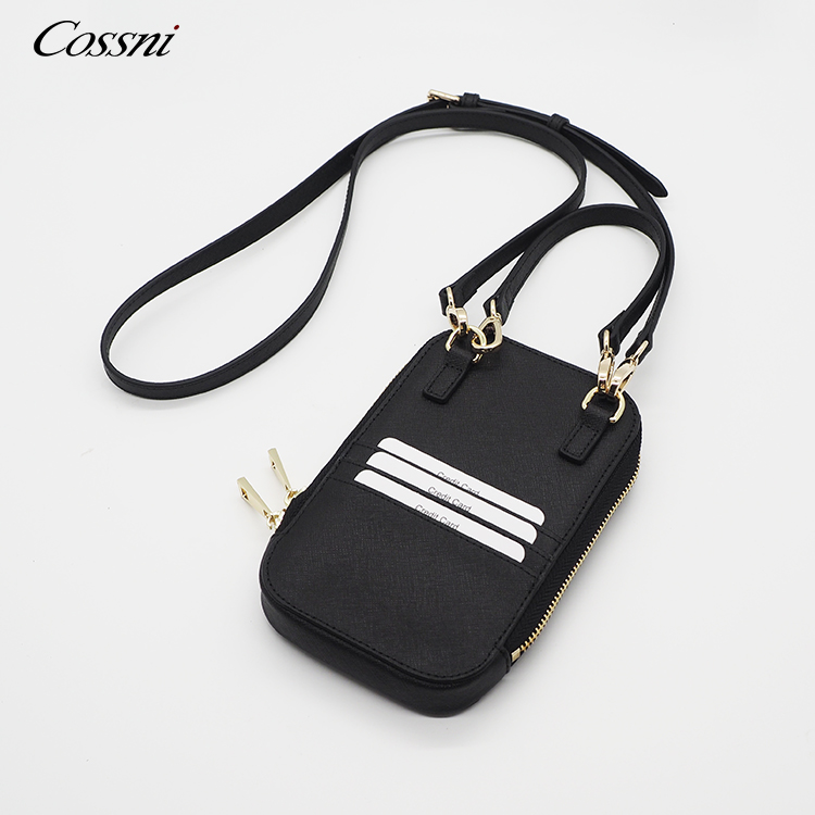 Genuine Leather Small Cellphone Pouch Crossbody Cell Phone Leather Shoulder Bag with Strap
