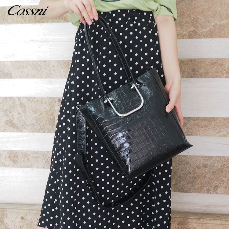 Wholesale custom fashion handbags Factory Crocodile Leather Shoulder Bags leather bags